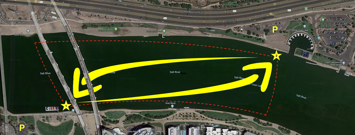Tempe Water Taxi route