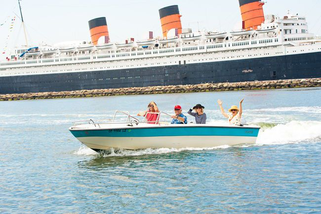 View The Queen Mary Up Close And Pristine Long Beach Coastline P By Tankers From Around World In This Largest Of Harbors Going About 15 20 Mph